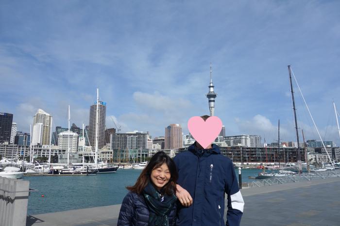 ニュージーランドに到着してすぐのころ、オークランドにて。