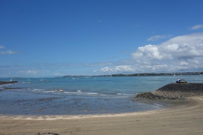 お天気のいい日にランチを食べたビーチ