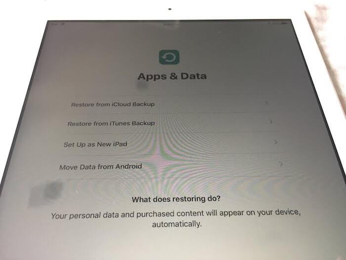 8dfb8ea63b わたしはiPhoneとMacbook Airを使っているので上から2番目の「Restore from iTunes  Backup」を選んで既存のものと同期しました。