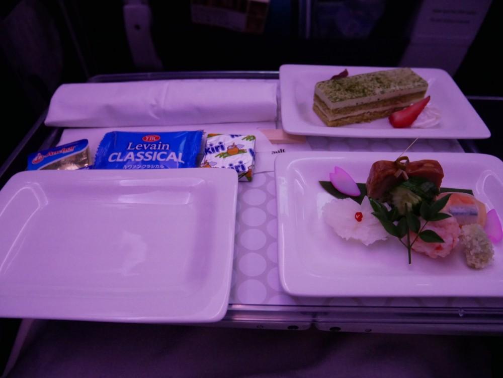 ニュージーランド航空プレミアムエコノミー 機内食(夕食)