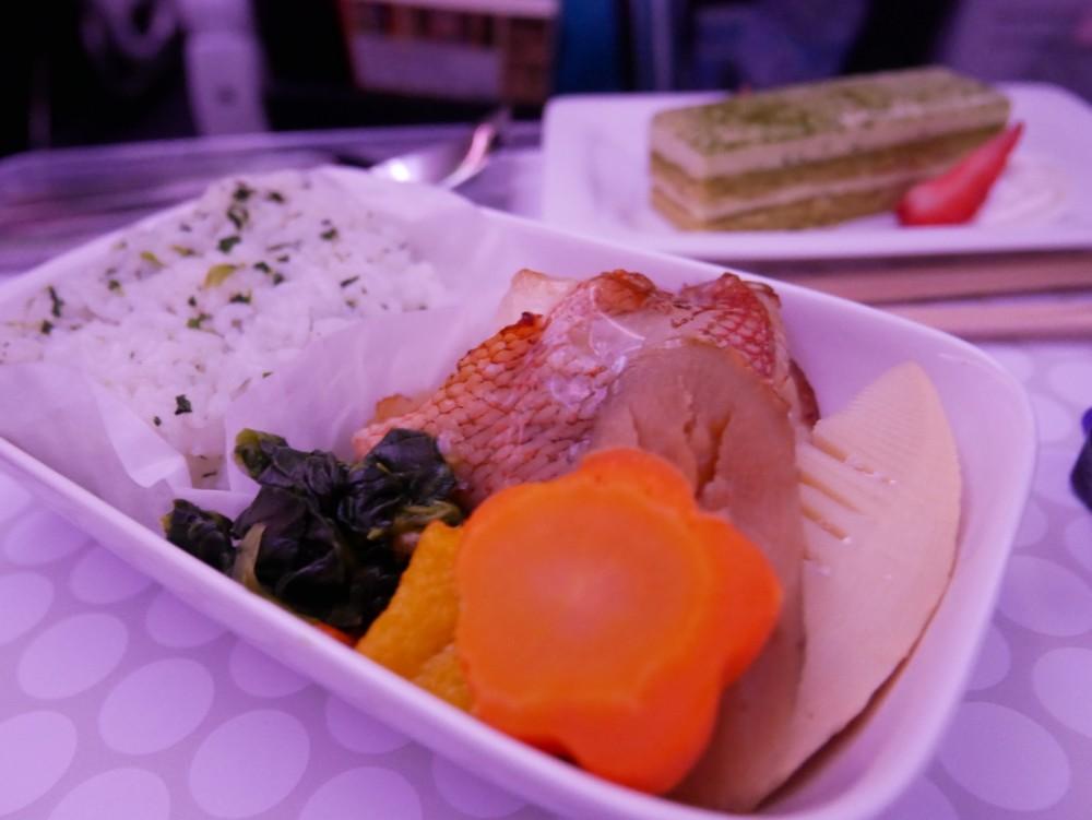 ニュージーランド航空プレミアムエコノミー 機内食(夕食)メイン和食