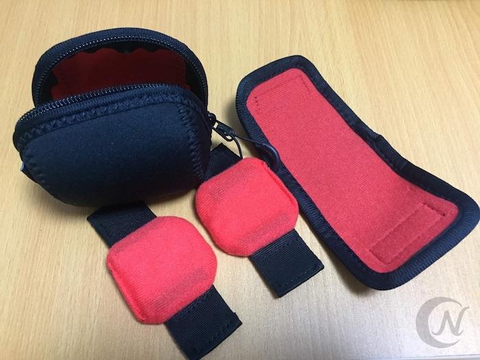 レンズ用ポーチは中身が取り外せ、収納するレンズによってサイズを調整できる。